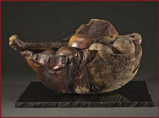 Susana Arias Ceramic sculpture, part of the Sailmaker Series, 2013